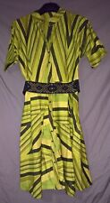 Stunning Traditional African Daviva Dress - Free head wrap and belt - Green- XL