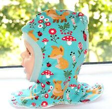 Winter-Schlupfmütze Jersey Fuchs   40 cm-44 cm Kopfumfang Handmade*Neu