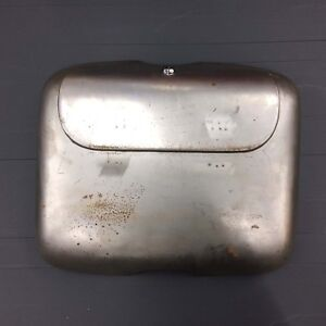 Tool / glove box in bare metal for Vespa PX