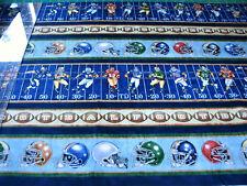 3 Yards Cotton Fabric - QT Fabrics Dan Morris Gridiron Football Stripe Blue