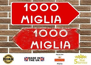 Mille Miglia Rally Endurance Race Metal Road Sign Garage Sign Man Cave