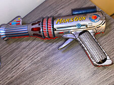 VINTAGE TIN LITHO MARS SPACE TOY RAY GUN SPARKS WORKS JAPAN