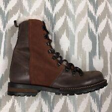 Luxe De Leon Tierra Men's Boots Genuine Brown Leather Winter Fur Boots Size 10