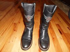 MENS LEATHER VINTAGE HARLEY DAVIDSON MOTORCYCLE/RIDING BOOTS SIZE 9 M NICE!