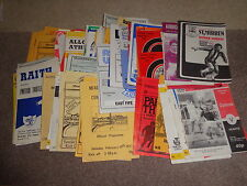 League Cup Football Scottish Fixture Programmes (1980s)