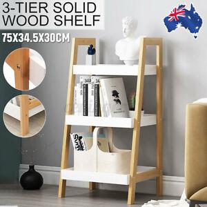 3-Tier Solid Wood Shelf Storage Display Stand Organiser Home Flower Book Rack