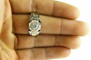 1.20Ct Round Cut Diamond Men's Rolex Engagement Ring 14K Two Tone Gold Finish