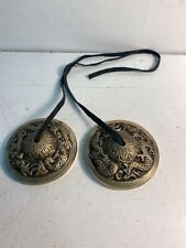 "2 Vintage 3"" Brass Musical Wind Chimes With Strings Only"
