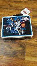 Star Wars NWT Limited Edition Vintage Style Tin Lunchbox w/ 2 Sandwich Cutters