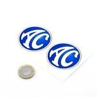 AC Cars Badge Sticker Decal Car Vinyl 50mm x2 Cobra 427 Shelby