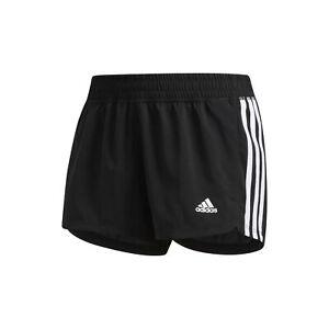 adidas Women's Pacer 3-Stripes Woven Shorts Black/White Small