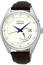 SEIKO SRN071P1 Kinetic Retrograde, Cinturino WR100m MEN'S DAY DATE 2Yr GUAR RRP £ 229