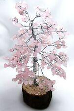 Rose Quartz Stone Reiki Healing Spiritual Crystal Tree Feng Shui Home Décor