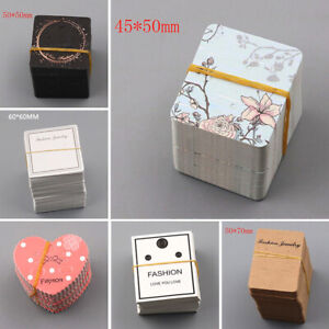 20pcsPaper Gift Pouches Tag Card Earring Cards Jewelry Packing Jewellery Display