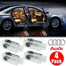 4 PCS Audi Logo LED Step Door Ghost Shadow Welcome Lights Laser Projection 6000K