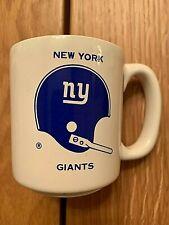 Vintage Chase & Sanborn  NFL New York Giants Coffee Mug / Cup Nice