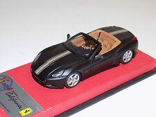 1/43 BBR Ferrari California Matte Black Gold Stripe Serie Speciale Leather Base