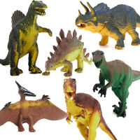 6pcs Large-sized Dinosaur Model Set Jurassic Animal Action Figures Kids Toys