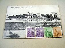 "OLD PPC~BUENOS AIRES~JARDIN ZOOLOGICO""PALERMO""~ca 1913~4 STAMPS ON FRONT-SIDE"