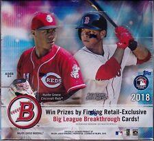 2018 Bowman Baseball sealed unopened retail box 24 packs of 10 MLB cards