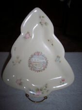 Pfaltzgraff Tea Rose Holiday General Store Tree Plate Candy Dish Retired USA~NWT