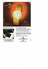 PUBLICITE ADVERTISING  1983   BAUME & MERCIER      montre RIVIERA