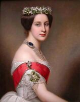 Dream-art Oil painting Joseph Karl Stieler  Alexandra Iosifovna beauty noblelady