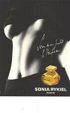"PUBLICITE ADVERTISING   1993   SONIA RYKIEL le parfum ""SOUS mon PULL"""
