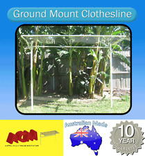 FOLD DOWN GROUND MOUNT CLOTHESLINE 2400mm x 1500mm Clothes line, FREE Pegs