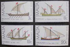 Maltese ships, (1st series) stamps, 1982, Malta, SG ref: 701-704, 4 stamps, MNH
