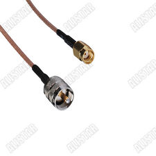 10, RP-SMA male to UHF PL259 male straight pigtail cable RG316 15cm