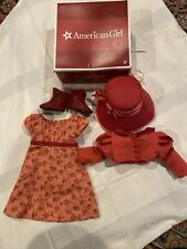 American Girl Doll Caroline Travel Spencer Hat Jacket Dress Shoes in Box