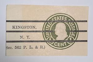 Travelstamps:US Stamps Scott #U420 Cut Square 1 Cent Kingston, NY Cancel
