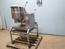 """Groen"" H.D. Commercial Natural Gas 40 Qt. S.S. Steam Jacketed Kettle Station"