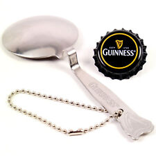Engraved Guinness Beer Harp Logo Black and Tan Pouring Spoon & Bottle Cap Magnet