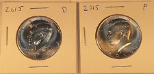 2015 P & D Kennedy Half Dollars – BU Condition - 1 Pair Fresh from US Mint Rolls