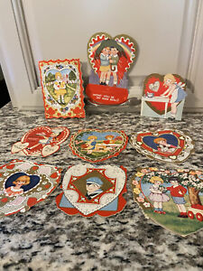 Lot Of Vintage Mid 1920s Valentines Cards