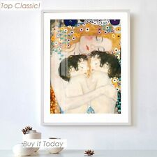 Canvas Painting Print - Gustav Klimt Mother Love Twins Baby Oversized Wall Decor