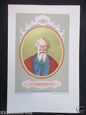 1879 SAN URBANO I URBANUS I ANTICA STAMPA CROMOLITOGRAFIA PAPA PAPI POPE D246 m