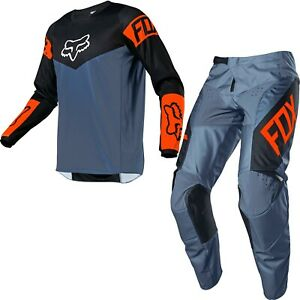Brand New Fox Adult 180 Revn Blue Steel  Motocross Kit Combo Size 32W M Jersey