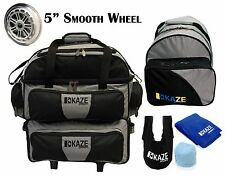 KAZE SPORTS 4 Ball Double Decker Bowling Bag Roller + Add On Spare Tote Set