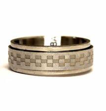 stainless steel mens spinner wedding band ring 6.8g gents estate