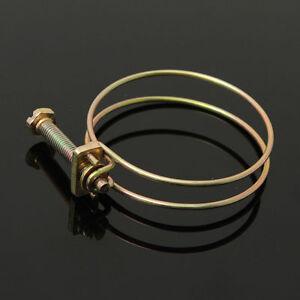 Double Wire Screw Bolt Hose Pipe Tube Clip Clamp Big / Small Bore 9 - 120mm