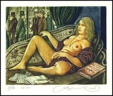 Kirnitskiy Sergey 2003 Exlibris C4 Alice Nahon Erotic Erotik Nude Nudo 70