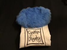 Cynthia Rowley BlueColored Fur Evening Bag With Chain Strap