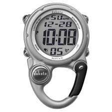Digiclip Mini Digital Nurse Watch Light-Up Silver Carabiner Dakota 30936