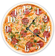 """12"""" Cheese Pepperoni Pizza Clock - Large 12 inch Wall Clock - 2020 - 12 in"""