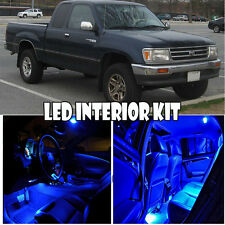 For 93-98 Toyota T100 Pick Up Truck Blue LED Xenon Light Bulb 5050 Interior Kit