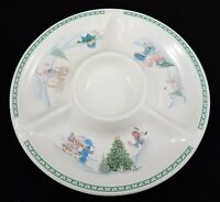 Vintage 1997 Precious Moments Enesco Christmas Platter Tray Chips Dip Vegetables