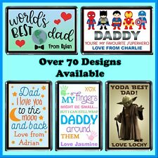 Personalised Fathers Day Fridge Magnet - Many Designs - Gift Idea - Dad, Grandpa